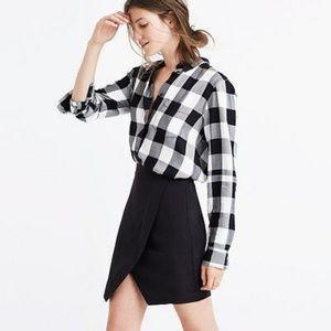 Madewell Skirts - Madewell Parkway Silk Mini Skirt Black Medium